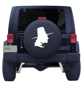 Pilgrim Silhouette Jeep Tire Cover Front
