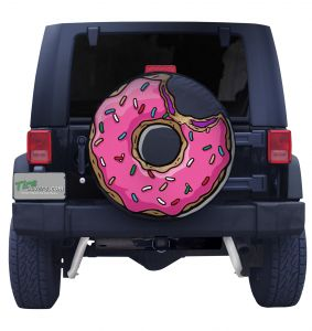 Pink Jelly Sprinkle Doughnut Tire Cover Front