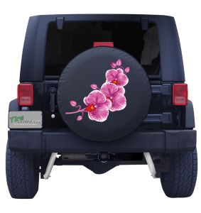Pink Orchid Tire Cover