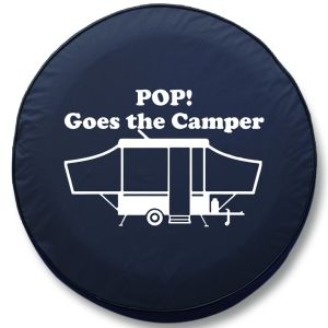 Pop Goes the Camper RV Tire Cover