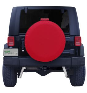 Plain Red Vinyl Tire Cover