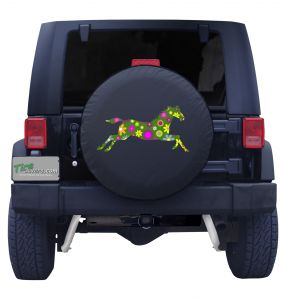 Retro Flower Horse Tire Cover