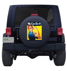 Rosie the Riveter Poster Custom Jeep Wrangler Tire Cover