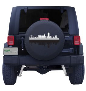 San Francisco California Skyline Tire Cover