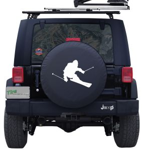 Sasquatch Skiing Custom Tire Cover Jeep Wrangler