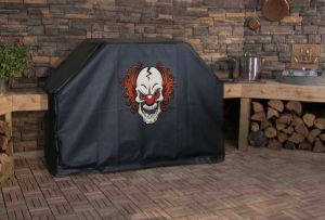 Scary Clown Custom Grill Cover
