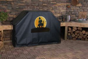 Haunted House Custom Grill Cover
