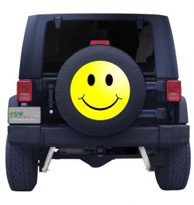 Smiley Face Tire Cover Front