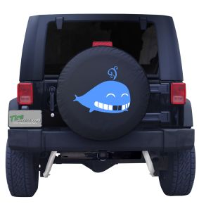 Smiling Whale Tire Cover