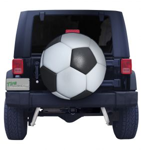 Soccer Ball on Black Vinyl Front
