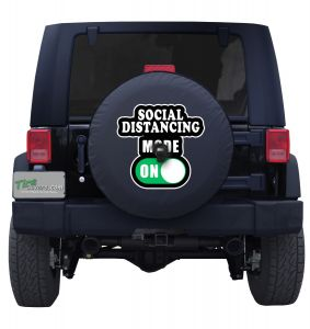 Social Distancing Mode On tire cover