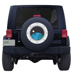 Space Ship Portal Tire Cover