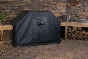 Spider on Web Custom Grill Cover