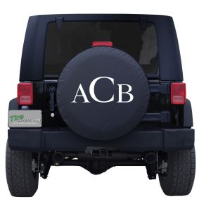 Standard Monogram Custom Tire Cover Jeep Wrangler