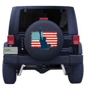 American Flag Statue of Liberty Tire Cover