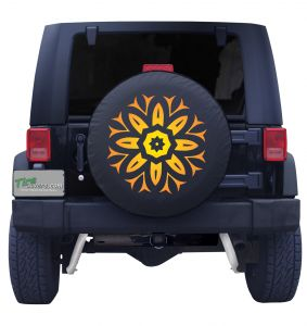 Wildfire Sun Burst Tire Cover Front