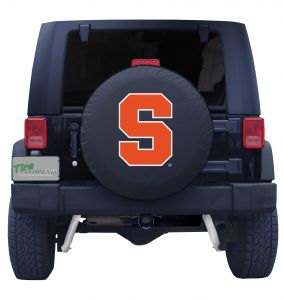 Syracuse University Spare Tire Cover Black Vinyl Front