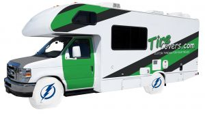 Tampa Bay Lightning RV Tire Shade Covers