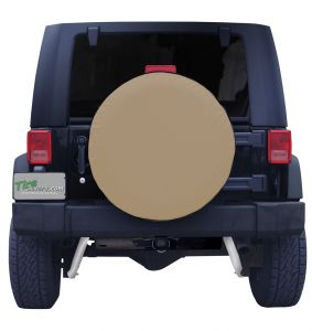 Plain Tan Spare Tire Cover