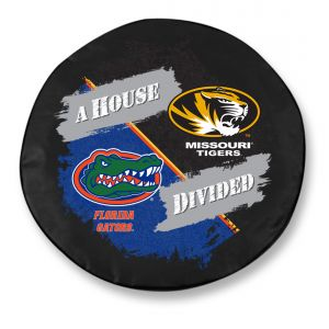 University of Missouri Tiger & University of Florida Gators House Divided Tire Cover
