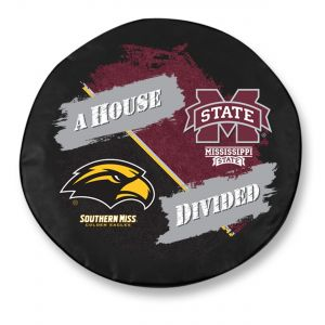 Mississippi State University & Southern Mississippi House Divided Tire Cover