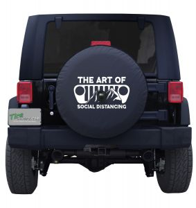 The Art of Social Distancing Jeep Grill Tire Cover