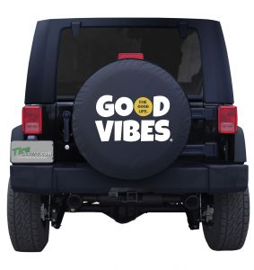 Good Vibes The Good Life Custom Tire Cover Jeep Wrangler