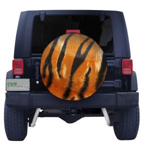 Tiger Print Spare Tire Cover Front