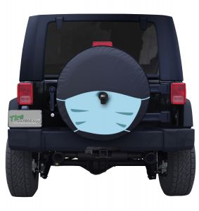 Tire Cover Face Mask Jeep Wrangler