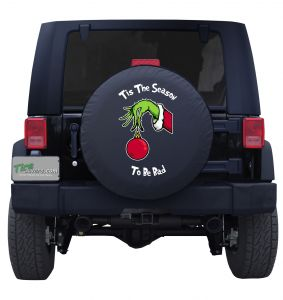 Tis The Season Grinch Hand Ornament Tire Cover