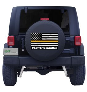 Tow Lives Matter American Flag Custom Tire Cover