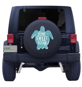 Aqua Sea Turtle Tire Cover