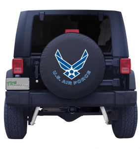 United States Air Force Spare Tire Cover Black Vinyl Front