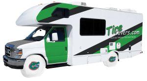 University of Florida RV Tire Shade Cover White Vinyl Front
