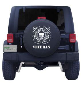 United States Coast Guard Veteran Tire Cover