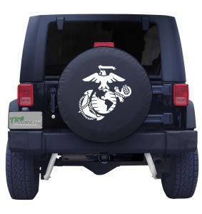 Marine White Logo Tire Cover