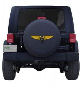 US Naval Flight Officer Wings Tire Cover