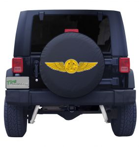 US Navy Enlisted Aircrew Wings Jeep Tire Cover