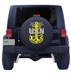 Master Chief Petty Officer Jeep Tire Cover