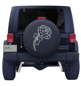 Rose Tire Cover