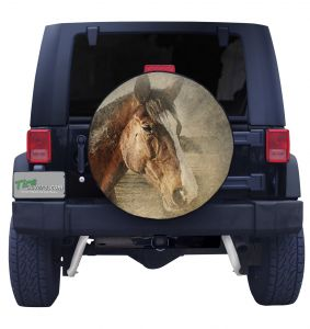 Vintage Horse Tire Cover