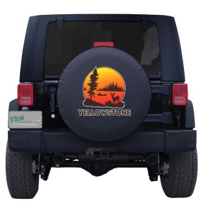 Vintage Yellowstone National Park Custom Tire Cover