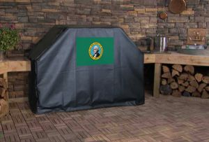 Washington State Flag Logo Grill Cover