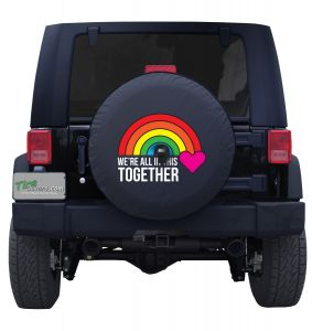 We're All in This Together Rainbow Tire Cover
