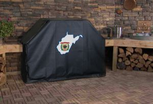 West Virginia State Outline Flag Logo Grill Cover