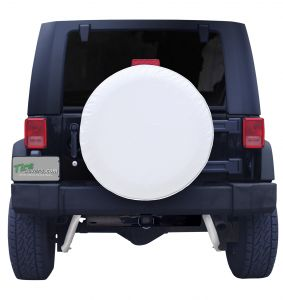 Plain White Spare Tire Cover