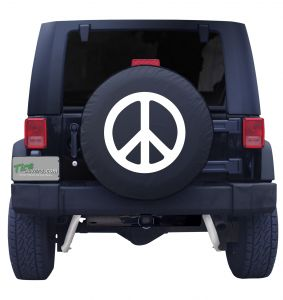 Black or White Peace Sign Tire Cover