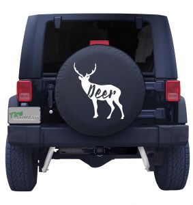 Deer Outline Tire Cover