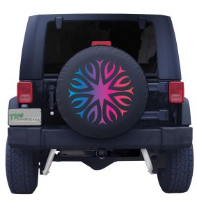 Hypnotic Flower Tire Cover Front