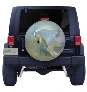 White Winged Pegasus Tire Cover